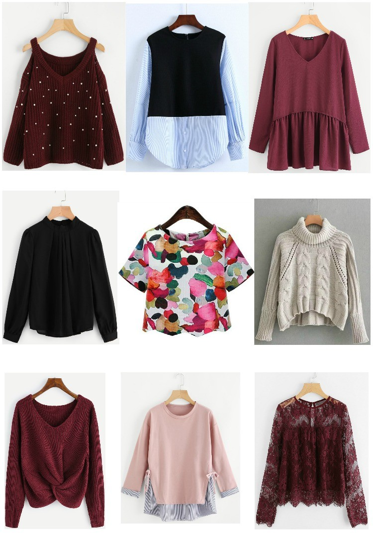 Cute tops and sweater for fall, Romwe, Pretty In Her Pearls, Houston Blogger