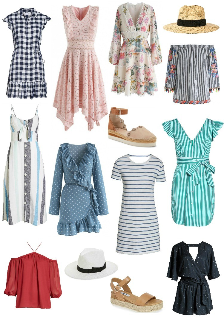 Spring Dresses, Shoes, and Accessories