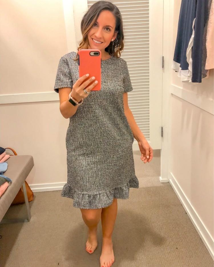 Loft Try-On Session Cute WorkWear Dress