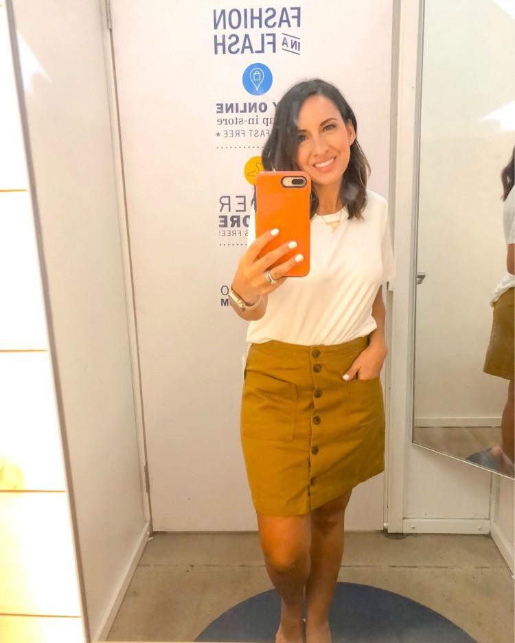 Fall Button Down Skirt