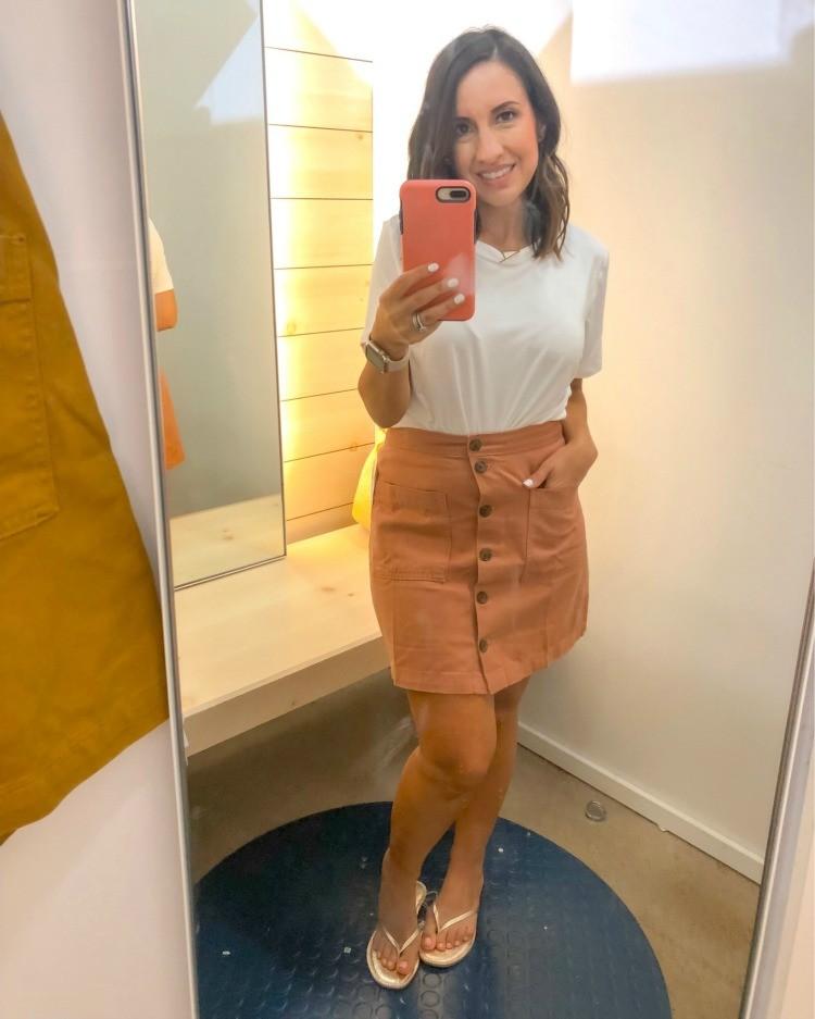 Light Pink Button Down Skirt