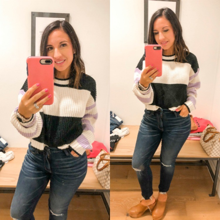 Mixed Striped Boxy Sweater