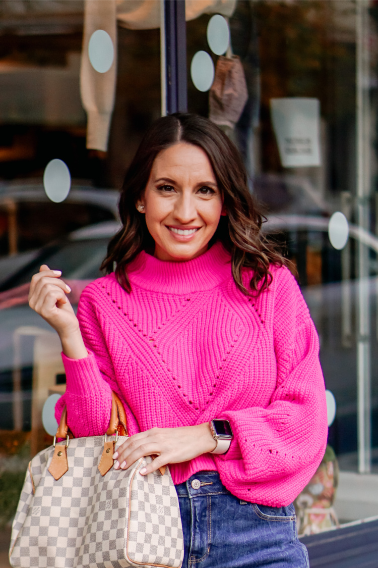 Cropped Pink Sweater and Cute Sweaters On Sale