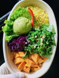 Golden Millet and Sweet Potato Bowl with Avocado