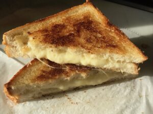 Our Souped UpCheddar Grilled Cheese Sandwich