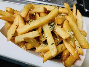 Our Souped Up Rosemary Parmesan French Fries