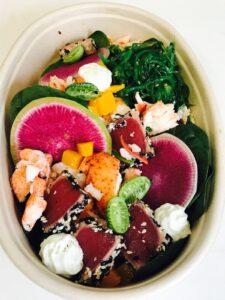 Tuna Bowl with Watermelon Radish