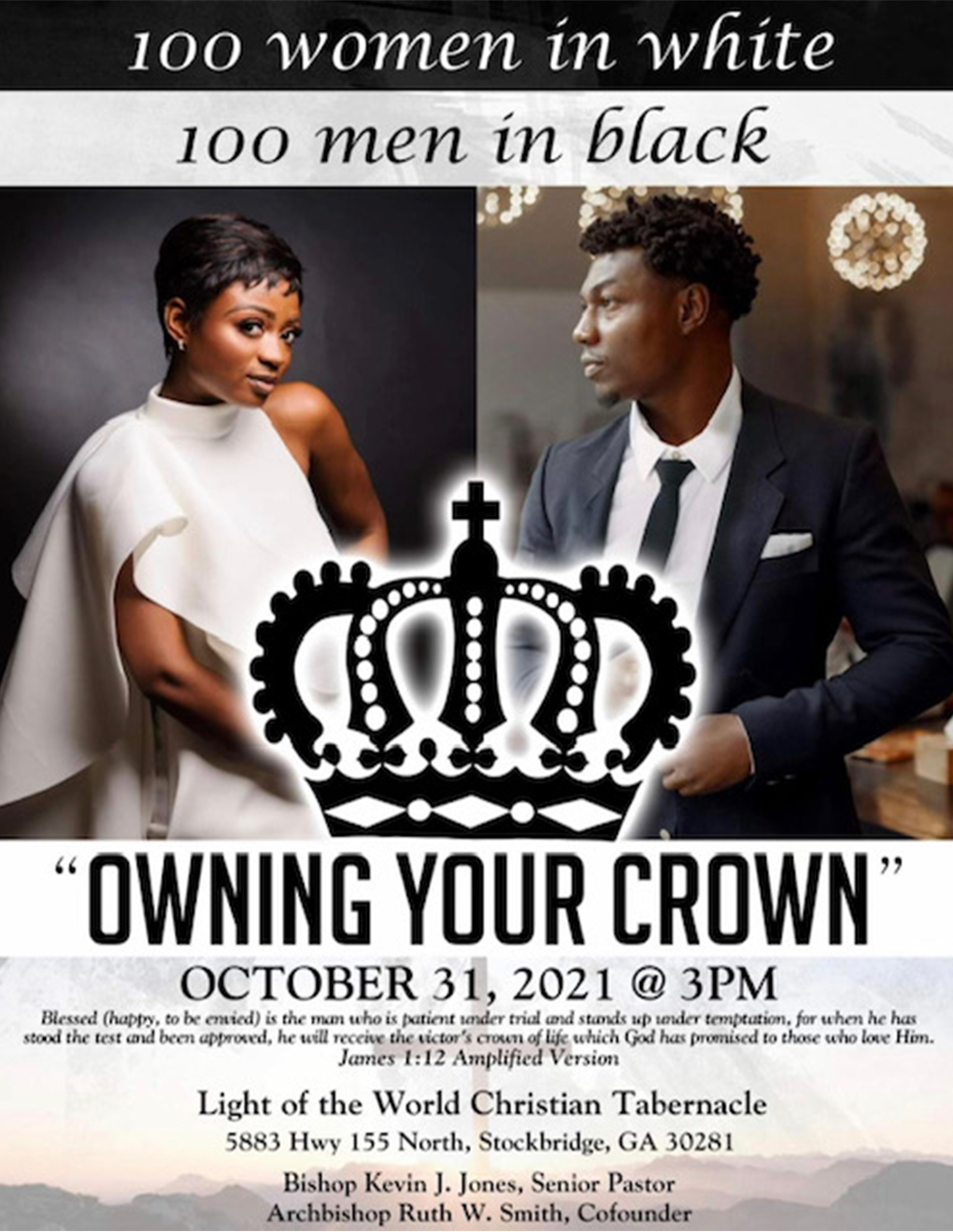 100 Women in White 100 Men in Black event called owning your crown