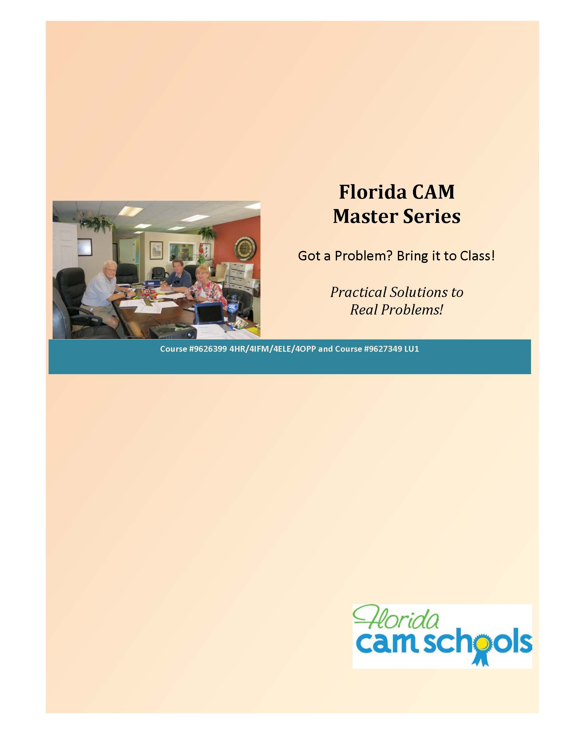 Florida CAM Master Series (manual only)