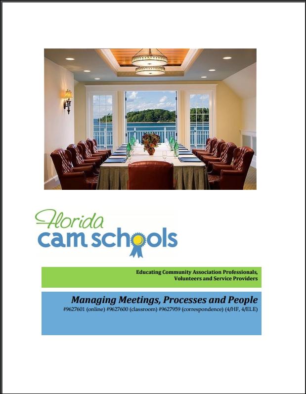 Managing Meetings, Processes & People – Self Study