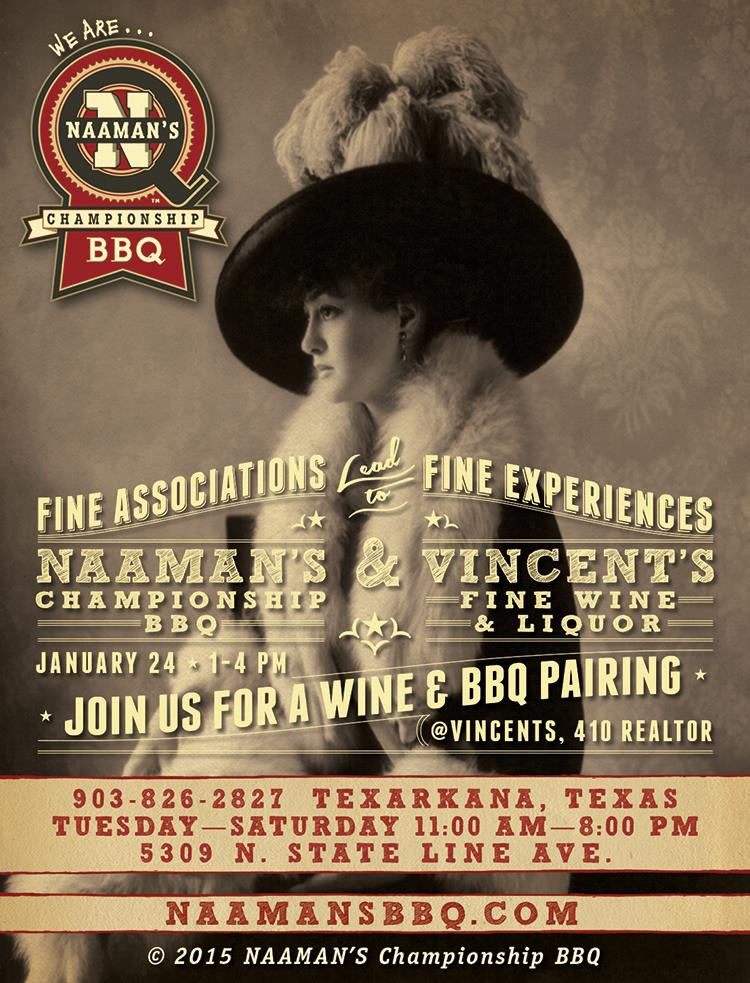Naaman's and Vincents - BBQ and Wine