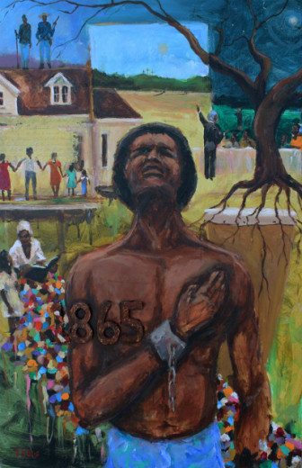 """""""Free At Last"""" by Ted Ellis, on display at the US Senate Building in Washington DC from June 15-19 2015."""