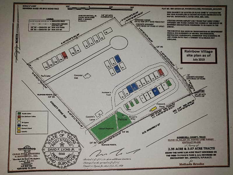 Rainbow Village Siteplan-July2019