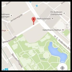 Location of Vesterbro Bryghus. Copenhagen. Denmark.