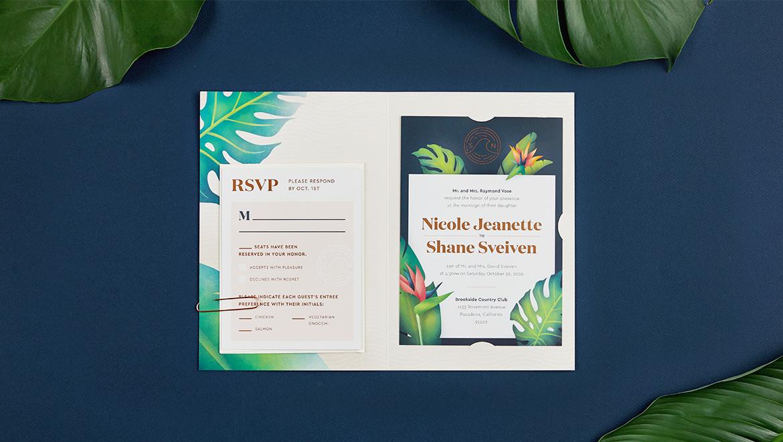 Sveiven Tropical Garden Wedding Invites