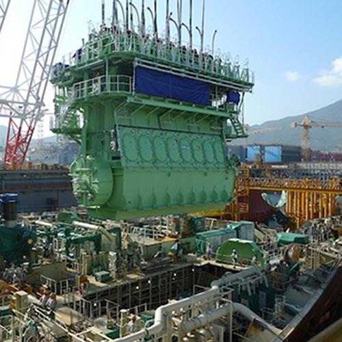 Main Propulsion Engine Installation