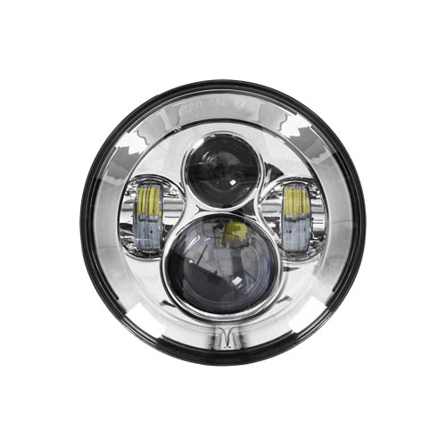 Aidrow's experts can install the 7 inch round HE-SHL701 motorcycle headlight . Part of the Cree LEDs series.