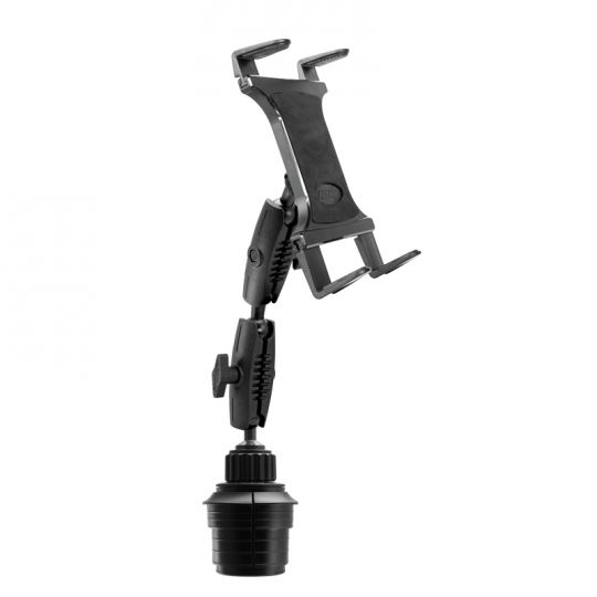 Arkon Mounts double robust tablet-car cup holder mount (TABRM2X023) photo on the Aidrow Installations Ltd. products page.
