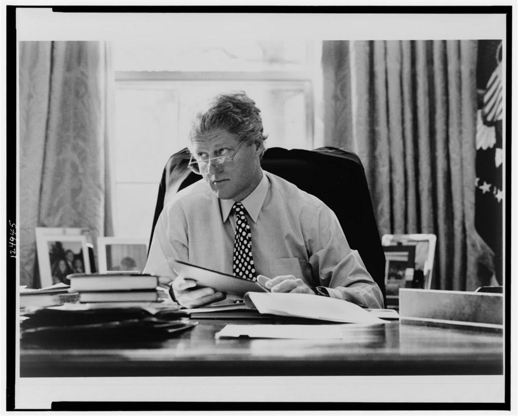 42-й президент США Уильям Джефферсон Клинтон. Библиотека Конгресса США.
