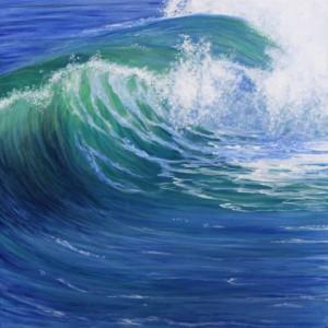 Energy Acrylic Wave Painting 24x24 Heather Torres art copy