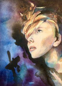 watercolor portrait, female watercolor portrait, woman watercolor portrait