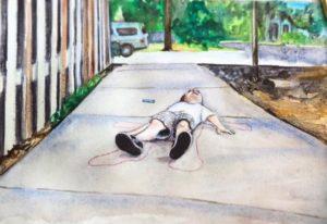 sidewalk chalk painting, sidewalk chalk watercolor