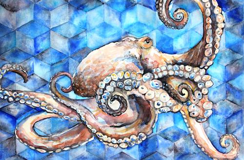 Octopus Watercolor