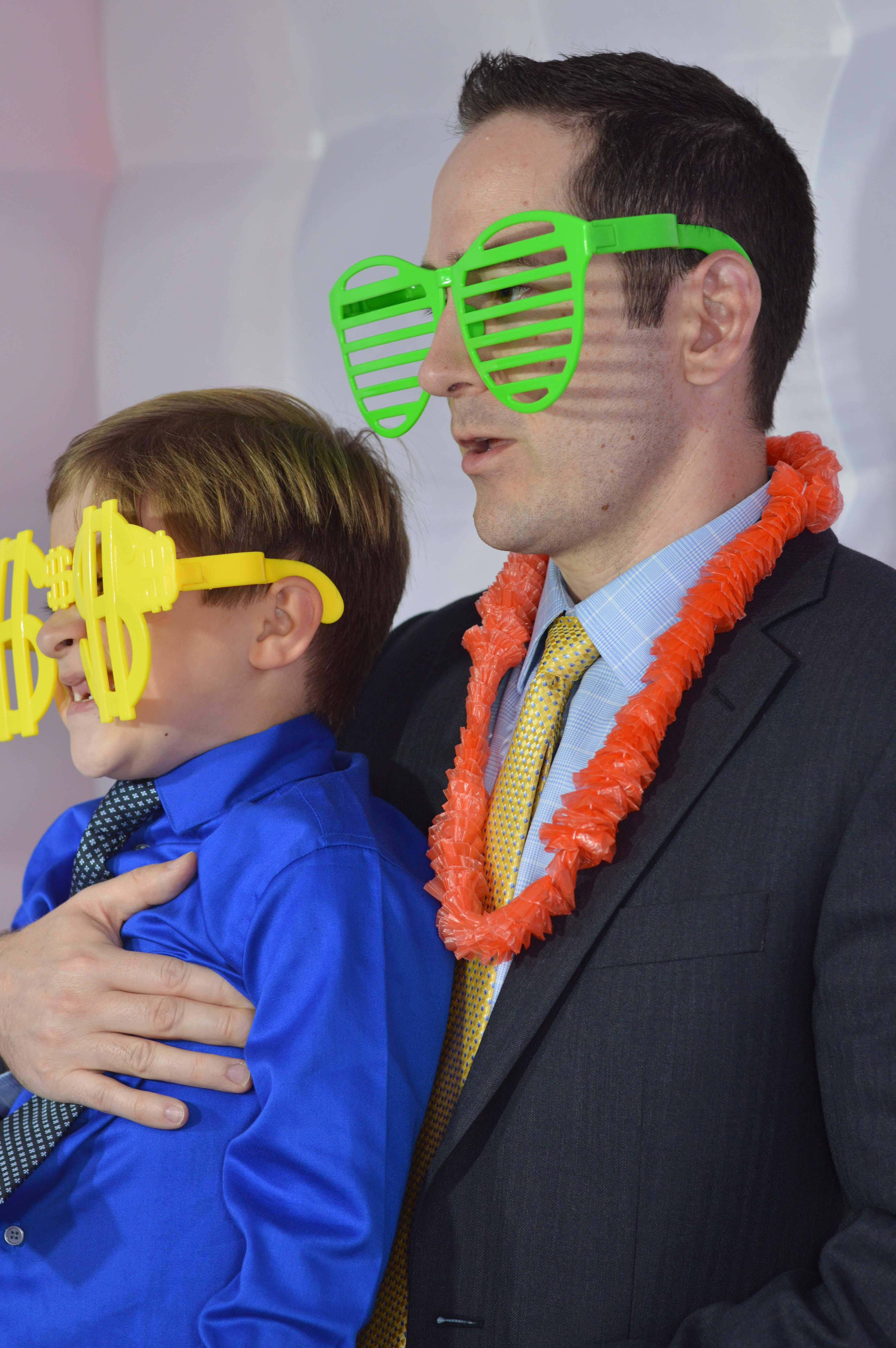 Dad and son--chill factor high in the Photo Booth