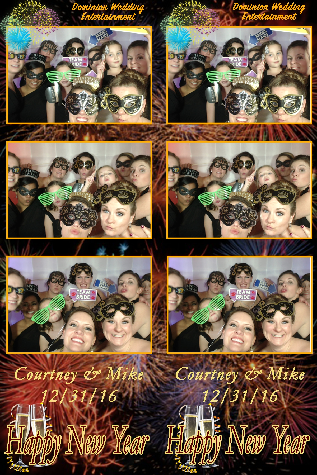 New Year's Eve Photo Booth Gang