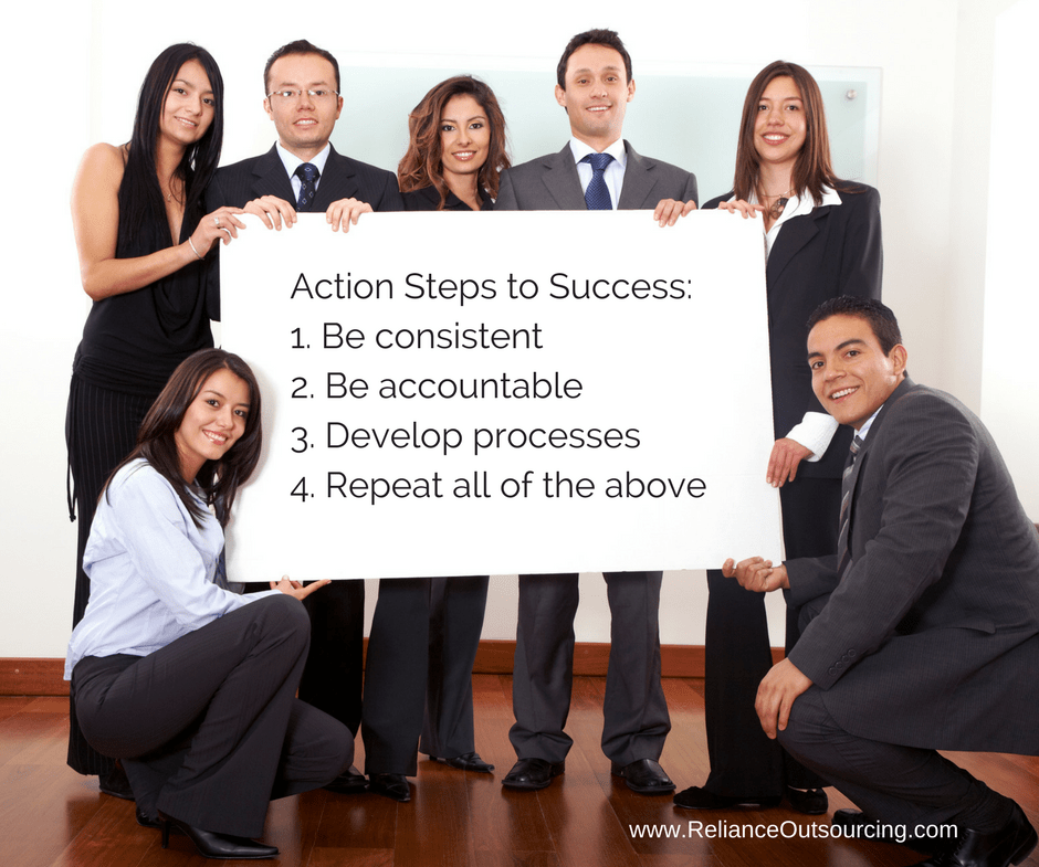 Action Steps to Success_1. Be consistent2. Be accountable3. Develop processes4. Repeat all of the above (1)