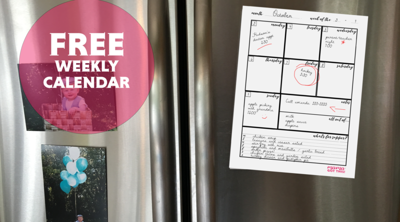 The Perfect Weekly Family Calendar