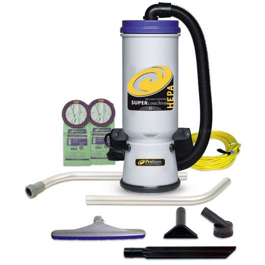 Image of HEPA vacuum with all the accessories