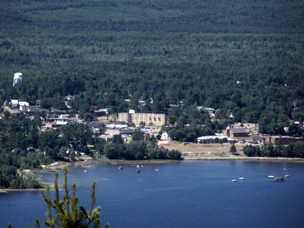 The Deep River Waterfront as photographed from Mount Martin, Quebec.