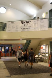 Thank-you banner hangs in Alpert JCC lobby