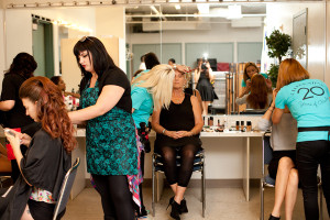 Behind the scenes with 2nd Street Beauty's make-up artists