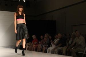crop top pleated skirt