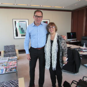 Ann with David Carey, President and CEO of Hearst Magazines