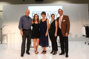 The Wiese family, underwriters of RUNWAY, with JFCS Executive Director Kathryn Miles and Board President Rob Feldman