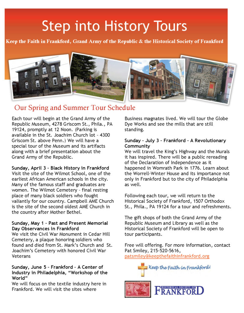 Step Into History Tours Flyer