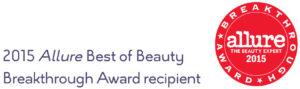 2015 Allure Best of Beauty Breakthrough Award recipient