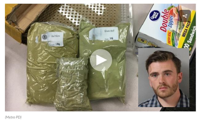 Tennessee man arrested for kratom