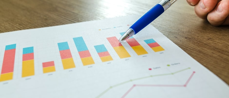 graphs and chart on paper