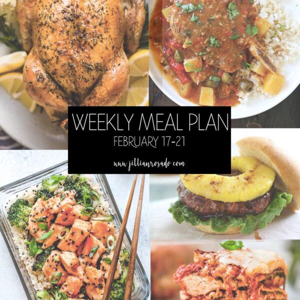 My Weekly Meal Plan Jillian Rosado