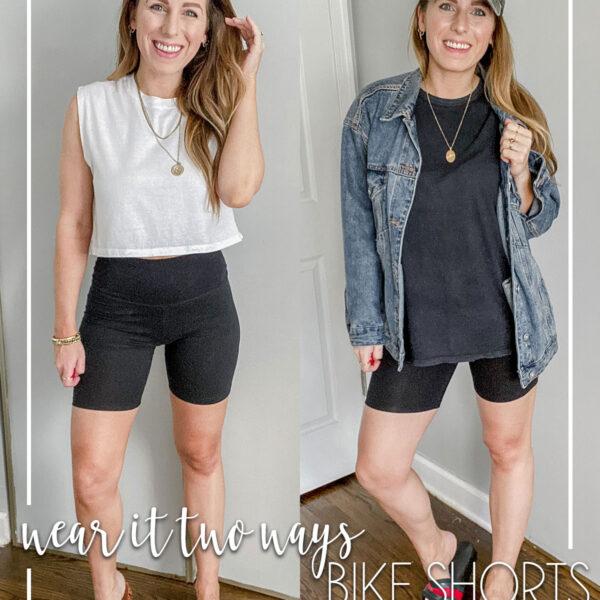 Wear It Two Ways Bike Shorts Outfit