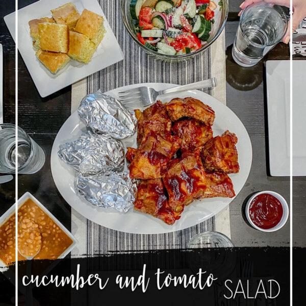 Cucumber Tomato Salad summer side dish