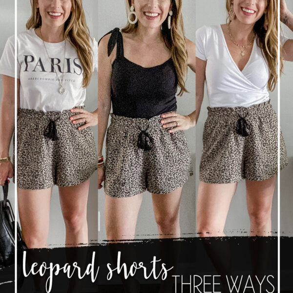 Abercrombie Leopard Drawstring Shorts