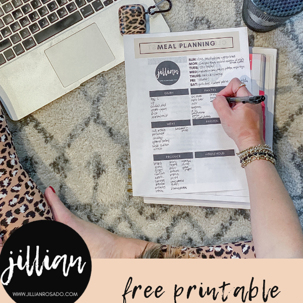 Weekly Meal Planner Daily Cleaning Checklist