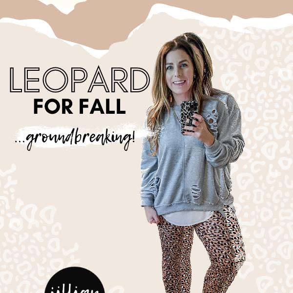 Leopard Fall Trends Animal Print