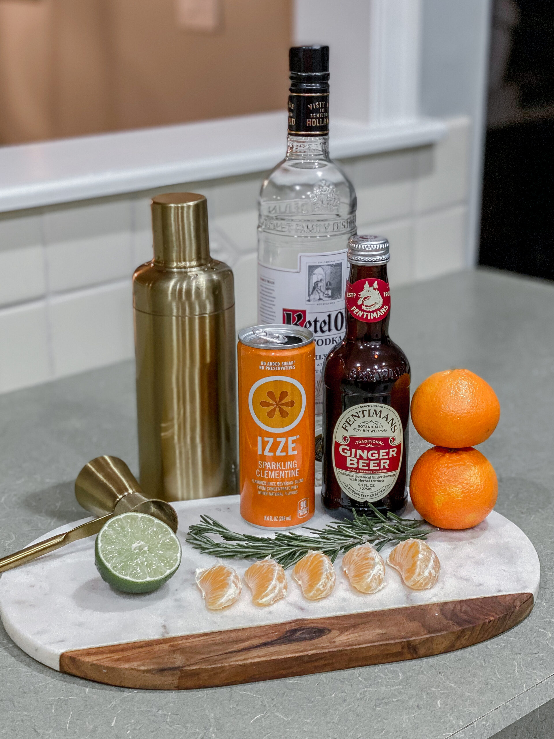 Clementine Moscow Mule Holiday Cocktails