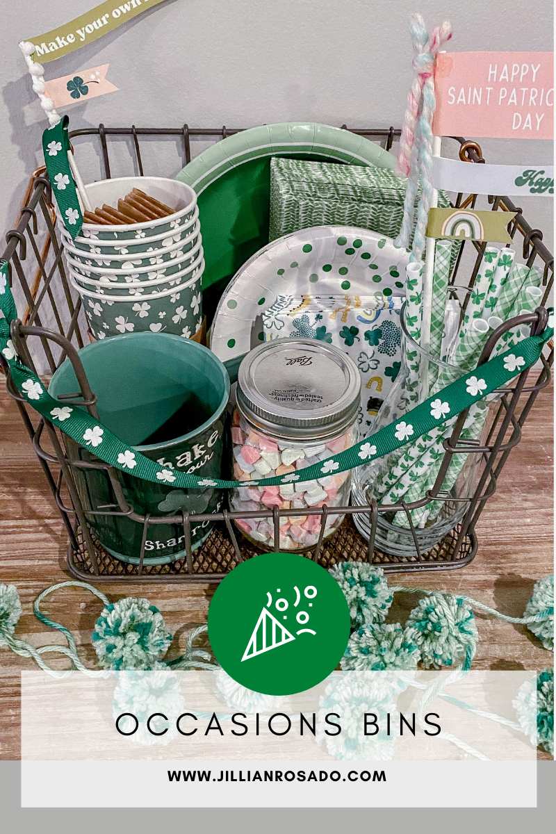 St Patrick's Day Occasions Bin Decorations Paper Goods Mugs